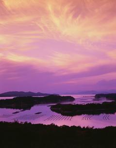 登茂山展望台より望む英虞湾夕景の写真素材 [FYI03332050]