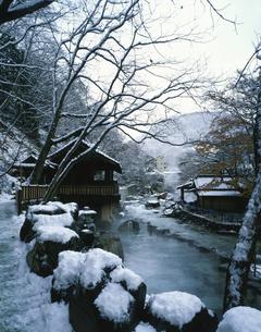 冬の宝川温泉      11月の写真素材 [FYI03332633]