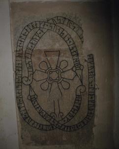 ルーン文字の刻まれた石碑の写真素材 [FYI03333313]