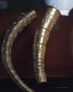 黄金の角笛 レプリカの写真素材 [FYI03333329]