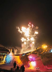 田沢湖高原雪祭りの写真素材 [FYI03335081]