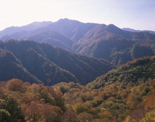 白神山地 双耳峰と向白神岳の写真素材 [FYI03335657]