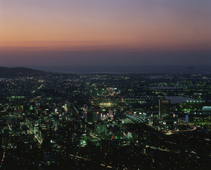 北九州市小倉北区夜景 足立山よの写真素材 [FYI03337572]
