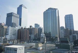 北新宿の大再開発予定地の写真素材 [FYI03338062]
