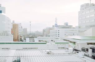 曇り空に霞む郊外都市の写真素材 [FYI03338877]