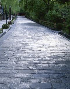 祗園白川の石畳の写真素材 [FYI03339396]