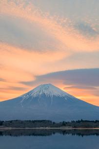 富士山と朝焼けの写真素材 [FYI03339467]