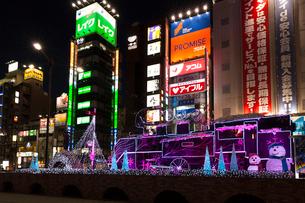 新橋駅前 SL広場のイルミネーションの写真素材 [FYI03339520]