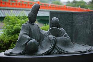 源氏物語銅像の写真素材 [FYI03339656]
