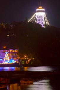 江の島ライトアップの写真素材 [FYI03339734]