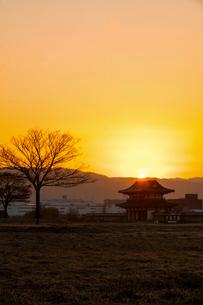 平城宮跡の朝の写真素材 [FYI03340068]