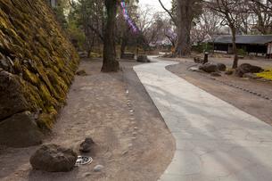 懐古園 桜まつりの飾りつけの写真素材 [FYI03341287]