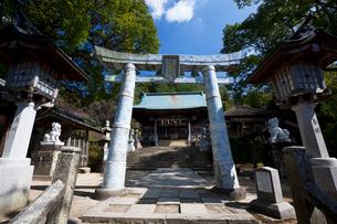 陶器の鳥居と陶山神社の写真素材 [FYI03342206]