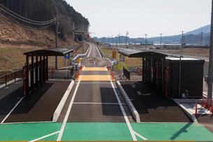 JRバス専用道(陸前戸倉駅)の写真素材 [FYI03343051]