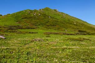 駒ケ岳登山道より男岳を望むの写真素材 [FYI03343202]
