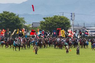相馬野馬追,神旗争奪戦の写真素材 [FYI03343572]