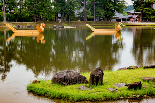 毛越寺庭園の写真素材 [FYI03343759]