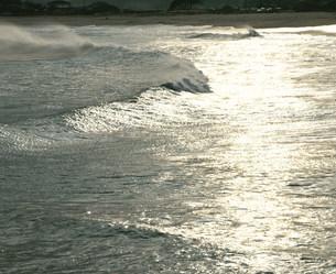 磯原海岸の光る海の写真素材 [FYI03344330]