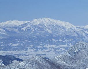 厳冬の妙高山の写真素材 [FYI03344374]
