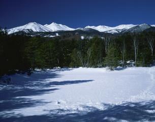 雪山乗鞍岳の写真素材 [FYI03344493]