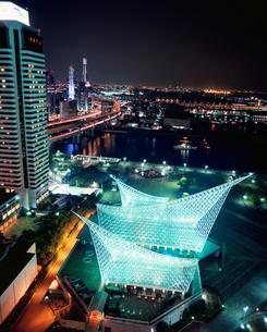 ポートタワーから望む神戸港の夜景の写真素材 [FYI03345444]