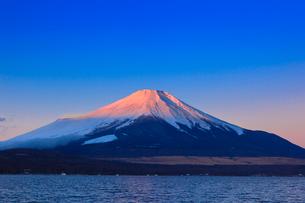 山中湖よりのぞむ富士山の写真素材 [FYI03345824]