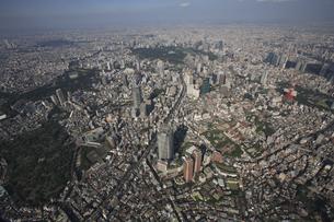 森タワーと六本木ヒルズから東京湾遠望の写真素材 [FYI03346276]