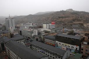 中国革命聖地延安市街地の写真素材 [FYI03346324]