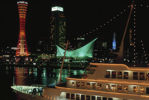 神戸港夜景の写真素材 [FYI03346377]