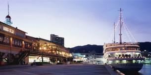 神戸ハーバーランド 夕景の写真素材 [FYI03346434]
