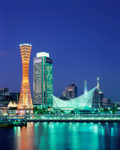 神戸港夕景の写真素材 [FYI03346553]
