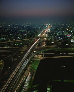 東大阪ジャンクション夜景の写真素材 [FYI03346655]