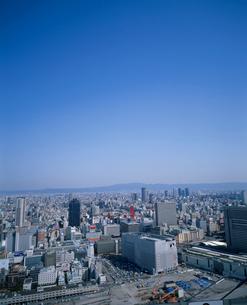 梅田周辺と生駒山の写真素材 [FYI03346740]