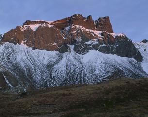 斑雪の白頭山の写真素材 [FYI03347117]