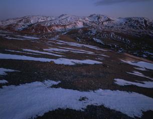 斑雪の白頭山の写真素材 [FYI03347118]