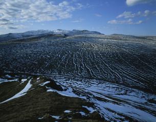 斑雪の白頭山の写真素材 [FYI03347122]