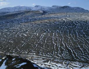 斑雪の白頭山の写真素材 [FYI03347126]