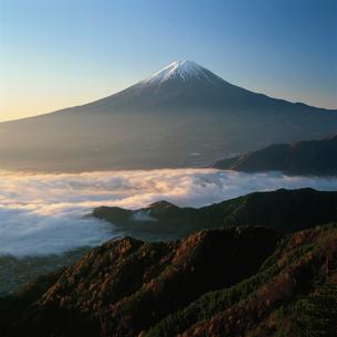 新道峠の秋の富士山の写真素材 [FYI03347629]
