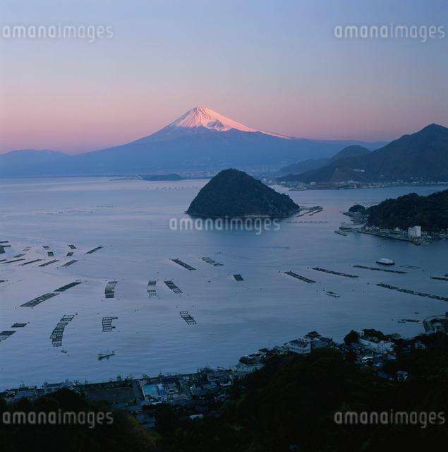 発端丈山から望む朝焼けの富士山の写真素材 [FYI03347734]