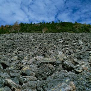 泉水峠の岩塊斜面の写真素材 [FYI03347818]