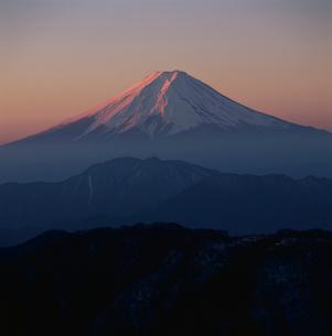 白谷丸から望む朝焼けの富士山の写真素材 [FYI03347846]