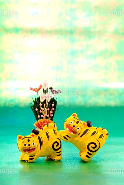 寅の郷土玩具 三春張子の写真素材 [FYI03347858]