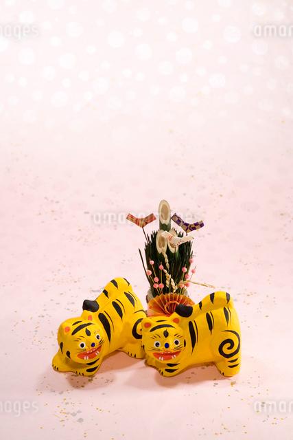 寅の郷土玩具 三春張子の写真素材 [FYI03347870]