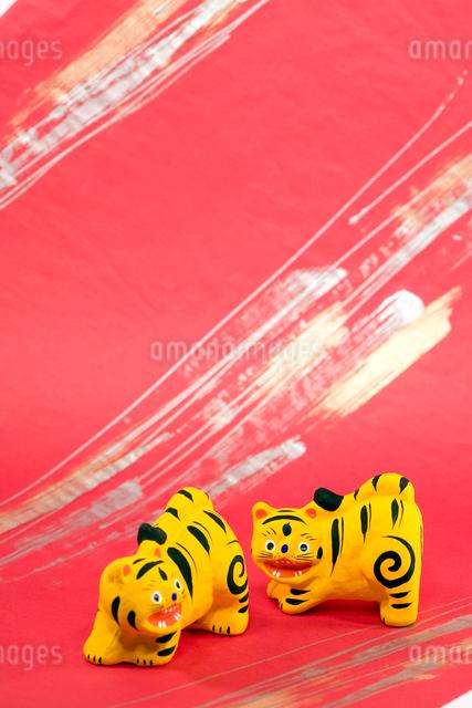 寅の郷土玩具 三春張子の写真素材 [FYI03347880]