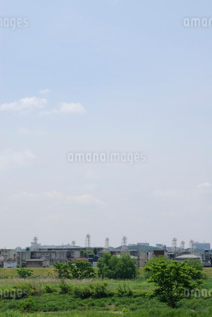 5月の給水塔の写真素材 [FYI03347968]