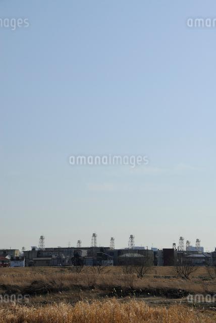 冬の給水塔の写真素材 [FYI03347969]