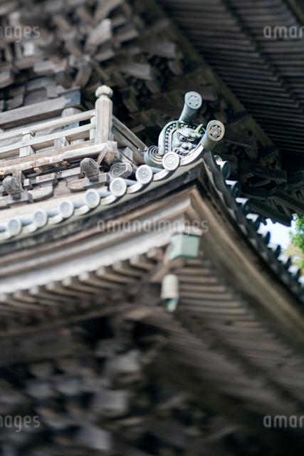 清水寺 三重塔の鬼瓦の写真素材 [FYI03348354]