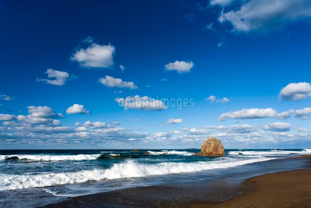 持石海岸と観音岩の写真素材 [FYI03348355]