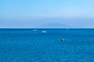 宍道湖のシジミ漁の写真素材 [FYI03349459]