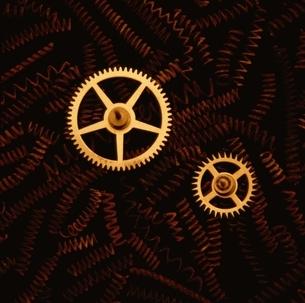 腕時計の部品の写真素材 [FYI03351426]